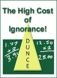 cost of ignorance